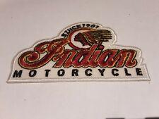 patch ecusson thermocollant brodé moto indian motorcycle 10cm sur 7cm