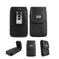 For Motorola Moto E5 Play Pouch Case Vertical Nylon Rugged Belt Clip Holster