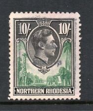 "1938 Northern Rhodesia S.G.44 10/- Green & Black.Fine ""FEE STAMP"" Revenue Used."