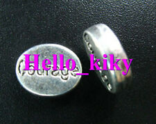 50 pcs Tibetan silver COURAGE oval spacers A1342