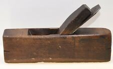 """Vintage 9-1/2"""" Ships Hollow Coffin Smoothing Plane 1-1/2"""" Iron (INV F256)"""