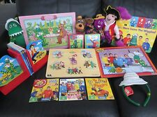 Wiggles toys, Dorothy, Wags, Puzzles, DVDs, book ends, board books & headband