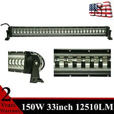 33''inch 150W LED Light Bar Flashing NEW Lens 4 Wires Fog Lamp ATV SUV RZR Roof