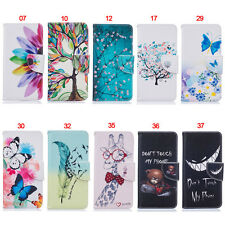 Butterfly Wallet Leather Skin Flip Case Cover For Motorola Moto G4 G5 G6 Plus