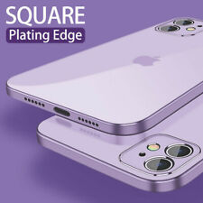 For Apple iPhone 12 Mini Pro Max Square Plating Clear Silicone Soft Case Cover