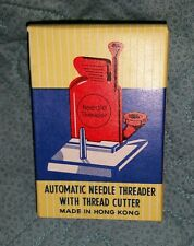Vintage Automatic Needle Threader with Thread Cutter In Original Box Instruction