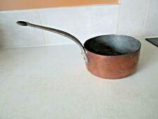 Ancienne casserole en cuivre déco cuisine vintage diamètre 18 cm.