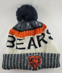 Chicago Bears New Era Bobble Knit Beanie Knit Cap Fleece GSH Doran Grant 35 NFL