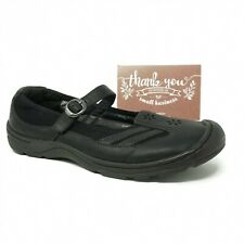 Keen Womens Mary Jane Loafer Flat Size 10 Black Leather Flowers Buckle 5489