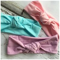 Miss LUCY - Baby Girls Soft Cotton Top Knot Headband