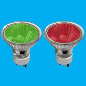 8x 50W GU10 Coloured Dimmable Halogen Reflector Spot Light Bulbs Lamps Downlight