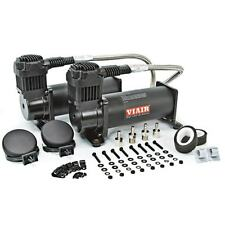 VIAIR 444C DUAL PACK STEALTH BLACK AIR RIDE BAG SUSPENSION COMPRESSOR PUMP TRAIN