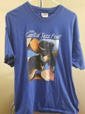 Capital Jazz Festival 12th 2004 Vintage Blue Capital Jazz Festival Xl T-Shirt