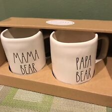 Rae Dunn Just Arrived MAMA BEAR PAPA BEAR mugs Set
