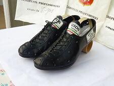 NOS vintage GIOS torino leather cycling shoes EU size 39-1/2  noG11us