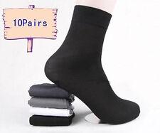 10 Pares Calcetines De Hombre Algodón Negocios Medias Negro