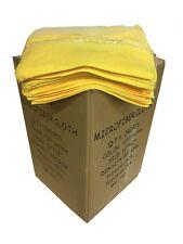 "240 Case 12""x12"" 300Gsm Microfiber Dairy Towels, Udder Cloths (Yellow)"