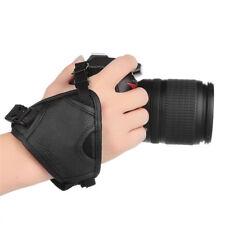 Presa anti scivolo grip mano eco pelle universale fotocamera Canon Nikon Olympus