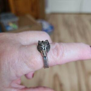 Jane Iris Sterling Silver Wolf Ring Size 7