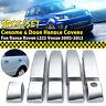 9PCS Chrome 4 Door Handle Covers Kits ABS For Range Rover L322 Vogue 2002-2013