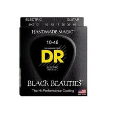 DR Strings BKE-9 Black Beauties Coated Electric Guitar Strings, 10-46