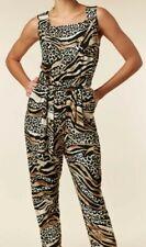 Wallis Tall Stone Animal Print Jumpsuit - Size 10
