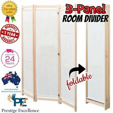 3 Panel Room Divider Privacy Screen Dividers Stand Wood White Wooden Partition