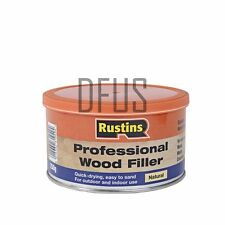 RUSTINS Professional Wood Filler NATURAL Quick drying interior & exterior filler