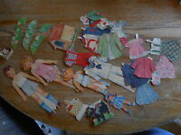 Paper Dolls Vintage Misc lot Used some poor condition Fashion