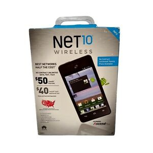Net 10 wireless Huawei Ascend Plus Android Prepaid Phone
