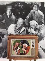 Bonanza Micheal Landon Vtg 1964 Print Ad RCA Color Television TV Console