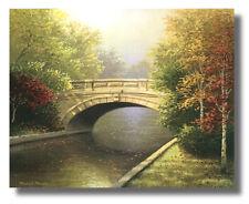 River Flows Under Autumn Bridge #2 Michael Marcon 8x10 Wall Art Print Picture