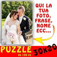 Puzzle foto A4 personalizzato con foto,testo,nome,logo ecc 30x20 - matrimonio