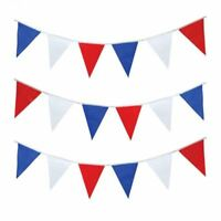 10M ROYAL WEDDING HARRY MEGHAN RED WHITE BLUE TRIANGLE BUNTING FLAGS BRITISH GB