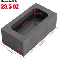 23.5OZ Graphite Casting Ingot Bar Mold For Gold Silver Melting Refining 85x45x30
