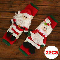 2Pcs Christmas Decorations Microwave Oven Gloves Refrigerator Ornaments  R! T