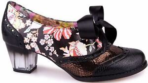 Irregular Choice Corporate Beauty Black Multi Floral Womens Shoes