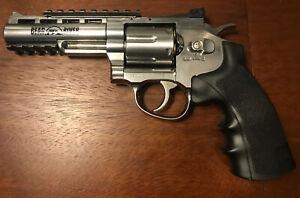 Bear River Exterminator Revolver w. Chrome Finish, Full Metal, CO2 BB/Pellet Gun