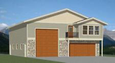 40x48 Apartment with 2-Car 1-RV Garage - PDF FloorPlan - 1,350 sqft - Model 1C