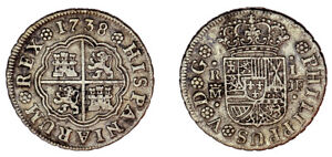 1 SILVER REAL / PLATA. PHILIP V - FELIPE V. MADRID 1738. VF / MBC.