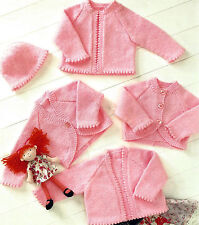 PREMATURE BABY DOLL BOLERO CARDIGAN HAT KNITTING PATTERN 12/22 BY EMAIL ( 42 )