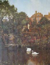 Antiguo Guildford, Río Wey-Edward Wilkins Waite - 76x51cm, Vintage Molino de impresión
