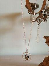 Collier Chaîne Argent 925 Coeur Swarovski Crystal Bronze