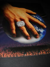 BON JOVI 2008 Promo Poster Ad LOST HIGHWAY ring on hand...gripping the world
