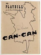 Gwen Verdon Signed CAN-CAN Playbill