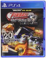 PS4 Pinball Arcade Season 2 Flipper Spiel Playstation 4 NEU