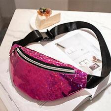 US Women Girls Pink Waist Fanny Pack Belt Bag Small Purse