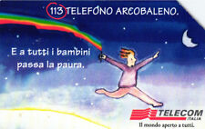 *G 936 C&C 3019 SCHEDA TELEFONICA USATA TELEFONO ARCOBALENO