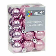 Pink Collection Christmas Decorations Baubles Stars Cones Hearts Tree Topper