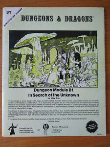 Dungeons & Dragons Module B1 In Search of the Unknown, GW edition (TSR B1)